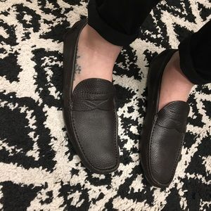 Prada loafers dark brown size 38
